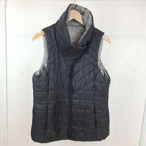 Modentta Reversible Gray Black Puffer Vest